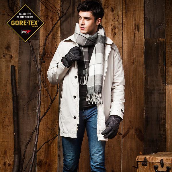 【FOX FRIEND 】 男款GORE-TEX防風防水透氣單件式+內裏保暖羽絨層 商旅長大衣
