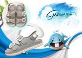 男童涼鞋 夏季男童鞋英倫1-4歲寶寶童涼鞋防滑兒童涼鞋2018小童塑料沙灘鞋 阿薩布魯