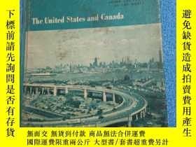二手書博民逛書店the罕見united states and canada(美國