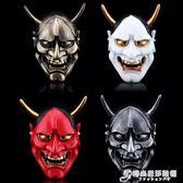 萬聖節樹脂般若面具恐怖成人日本武士白鬼院凜凜蝶鬼頭裝飾cosigo 時尚芭莎