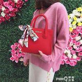 紅色結婚新娘包包女2018新款潮韓版百搭斜挎小方包伴娘手提婚宴包 【PINKQ】
