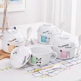 泡麵碗日式餐具學生可愛飯碗湯碗大號帶蓋碗筷套裝 交換禮物
