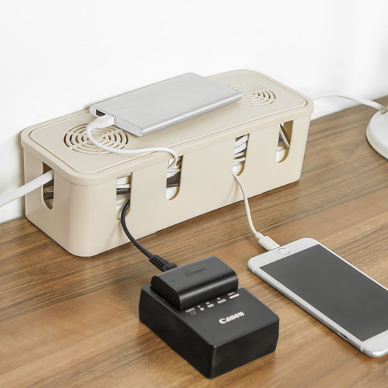 ◄ 生活家精品 ►【R076】電線桌面整理盒 插線板 理線盒 電源線 插排 充電線 電腦網線盒 遙控器