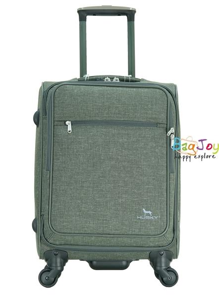 YUE HUSKY 超輕量 18吋 登機箱 行李箱 YKK 防盜 防爆 拉鍊  7018改款 YU-7018RCW  灰綠色