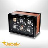 【Jebely】機械手錶自動上鍊盒 雅緻有型 JBW220 木紋棕 六手錶轉台 動力儲存錶機 台灣製