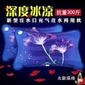 冰枕水枕頭氣枕消暑降溫水袋冰涼墊充氣注水冰涼枕降溫冰袋水袋xw