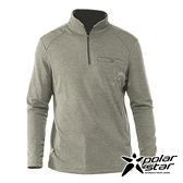 【PolarStar】男 排汗立領長袖上衣『墨綠』P20221 上衣 休閒 戶外 登山 吸濕排汗 透氣 長袖