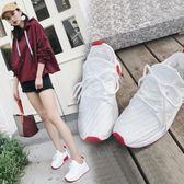 女鞋秋季新款厚底增高運動鞋女街拍休閒跑步鞋韓版小白鞋女