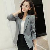 2018春夏新款韓版女裝時尚短款修身西裝外套女士長袖小西服女上衣『潮流世家』
