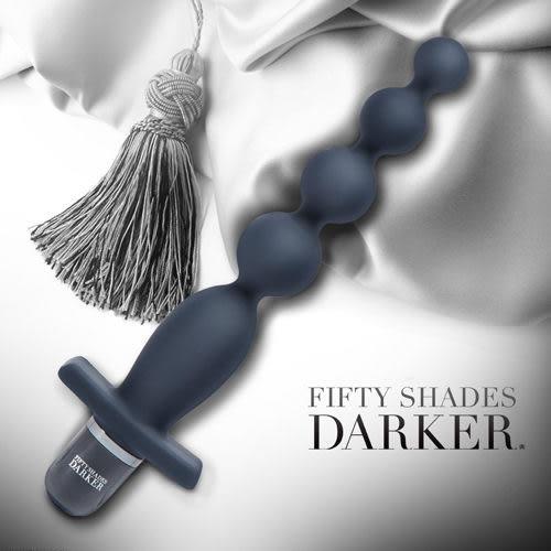 後庭按摩棒 情趣用品-BDSM Fifty Shades Darker 格雷的五十道陰影2-束縛 串珠造型後庭震動器