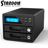 [富廉網] RAIDON 銳銨 GR3680-SB3 2.5吋/3.5吋 USB3.0/eSATA 2bay 磁碟陣列設備(和順電通)