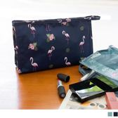 《ZB0607》紅鶴印花手提網格化妝收納包 OrangeBear