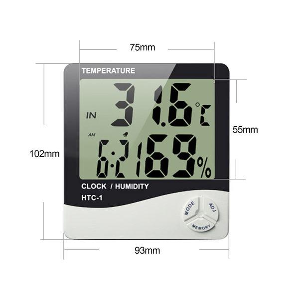 HTC-1 電子溫濕度計 時鐘 鬧鐘 日曆 大螢幕
