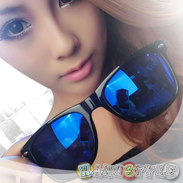 經典米釘彩膜時尚造型眼鏡【026025】韓飾代【HandStyle】(附眼鏡盒)