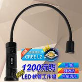 【樂悠悠生活館】EDISON CREE-L2 1200流明超亮LED軟管工作燈 手電筒 (EDS-G655)