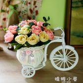 客廳絹花干花束塑料假花仿真花車套裝飾品家居小擺件茶幾室內擺設  嬌糖小屋