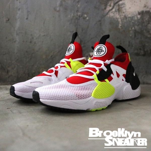 Nike 武士鞋 Huarache E.D.G.E 白紅黃黑 休閒鞋 男 (布魯克林) 2019/1月 AO1697-100