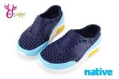 native LENNOX BLOCK 洞洞鞋 小雷諾系列 中小童 休閒鞋 K9475#藍色◆OSOME奧森童鞋