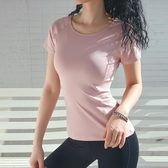 運動上衣運動t恤女性感緊身網紅健身服速乾跑步短袖瑜伽服上衣夏季透氣 童趣屋
