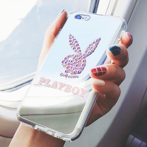 【特價/停產】韓國 PLAYBOY 鏡面軟邊 帶防塵塞 手機殼│iPhone 7 Plus│z7710