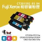 【有購豐】Fuji Xerox CT201592 CT201593 CT201594 彩色副廠相容碳粉匣-三彩組