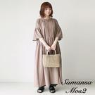 「Summer」棉麻蕾絲摺邊領喇叭寬袖洋裝 (提醒 SM2僅單一尺寸) - Sm2