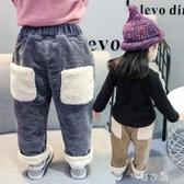 女童加絨燈芯絨褲子秋冬兒童大PP休閑褲洋氣小童寶寶外穿哈倫長褲 交換禮物