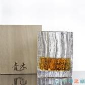 石塚硝子日式青木杯水晶玻璃茶杯水杯子簡約【千尋之旅】