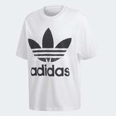 adidas T恤 Originals Trefoil Oversize Tee 男款 大尺寸 落肩 寬版 經典 基本款 白黑 白 黑 【PUMP306】 CW1212