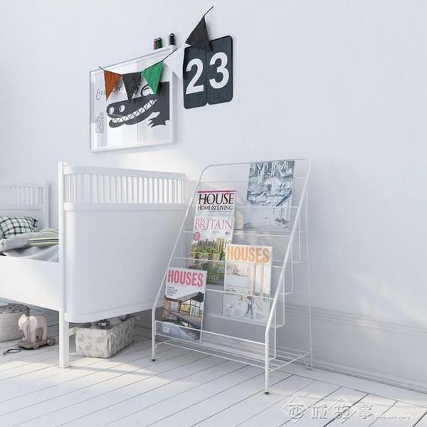書架 寶寶書架兒童繪本架收納架幼兒園書報架整理架置物架北歐鐵藝家用 西城故事