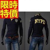 POLO衫 長袖男上衣-優質隨性熱銷焦點純棉質3色59x30【巴黎精品】