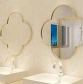 浴室鏡 北歐鏡子貼墻四葉梅花鏡全身穿衣鏡免打孔壁掛裝飾鏡化妝鏡 - 晟鵬國際貿易