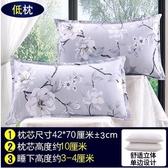 枕頭枕芯一對單人成人羽絲絨酒店枕護