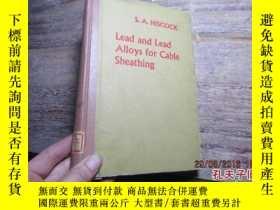 二手書博民逛書店lead罕見and lead alloys for cable