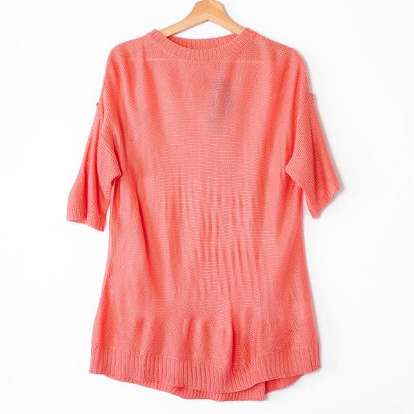 【MASTINA】五分寬袖針織衫-粉 好康優惠