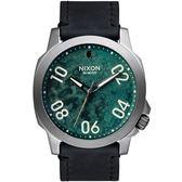 【人文行旅】NIXON | A466-2069 Ranger 45 Leather 軍事風格個性腕錶