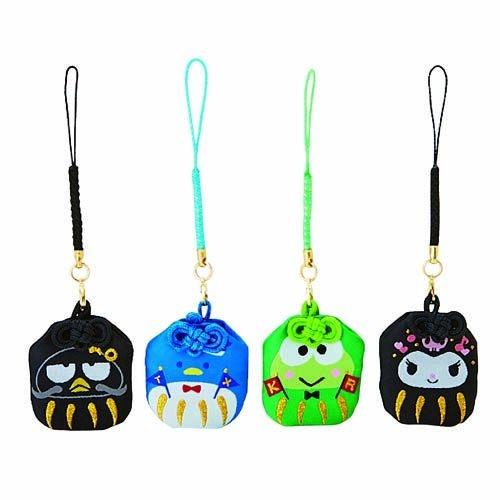 【震撼精品百貨】Hello Kitty 凱蒂貓~達摩不倒翁造型祈願御守吊飾#09986