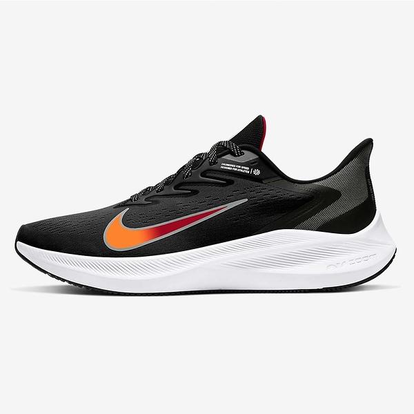 NIKE系列-ZOOM WINFLO 7 男款黑橘色運動慢跑鞋-NO.CJ0291011