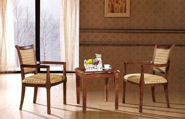 【 IS空間美學】愛格蘭實木洽談椅
