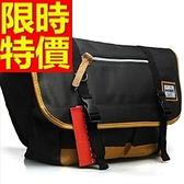 尼龍側背包-個性可肩背輕盈大容量男女郵差包2色57b44【巴黎精品】