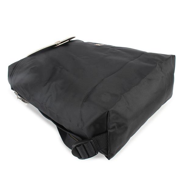 Longchamp 1699 LE PLIAGE 奔馬刺繡折疊尼龍後背包(黑色)480210