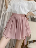 短裙 適合胯大腿粗的褲子女夏寬松短褲高腰闊腿五分熱褲雪紡半身短裙褲