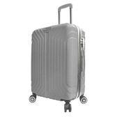 新紀元24吋拉鏈行李箱-銀【愛買】
