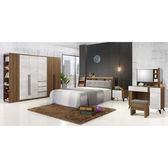 【森可家居】緹諾6尺床組(全組) 7ZX209-3 雙人床臥室房間組 木紋質感 北歐工業風