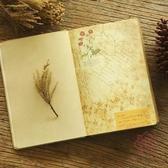 2本裝 歐式復古手賬本彩頁日記本記事本牛皮紙筆【櫻田川島】