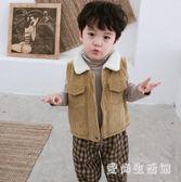 兒童燈芯絨馬甲背心 男童加絨冬坎肩潮秋裝嬰兒加厚外套 BF14671『愛尚生活館』