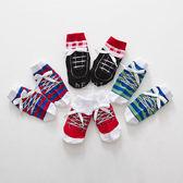 紳士鞋帶布鞋造型止滑短襪 童襪 止滑襪 防滑襪 造型襪