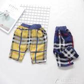 寶寶短褲男夏1-3歲小童褲子棉麻男童潮下裝嬰兒可開檔褲夏裝韓版 花間公主