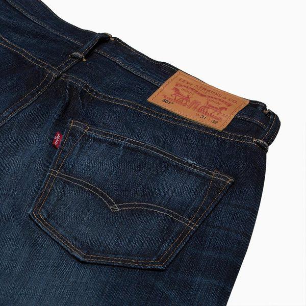 [第2件1折]Levis 男款 501排釦直筒牛仔褲 / 基本款微刷白