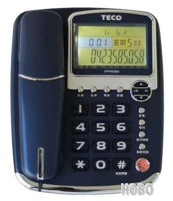 東元TECO XYFXC003 來電顯示有線電話 免持撥號、語音報號 買就送USB燈